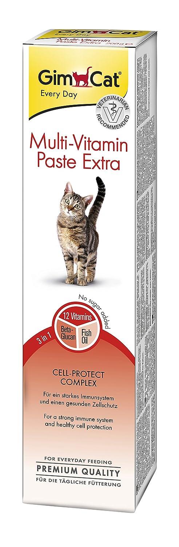 GimCat pasta extra multivitaminas , Aperitivo para gatos nutritivo con vitaminas, nutrientes y Omega 3 y 6 , 1 paquete (1 x 200 g): Amazon.es: Productos ...