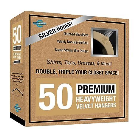 Superior Closet Complete Premium Heavyweight, Velvet Shirt Hangers U2013 Ultra Thin,  Space Saving,