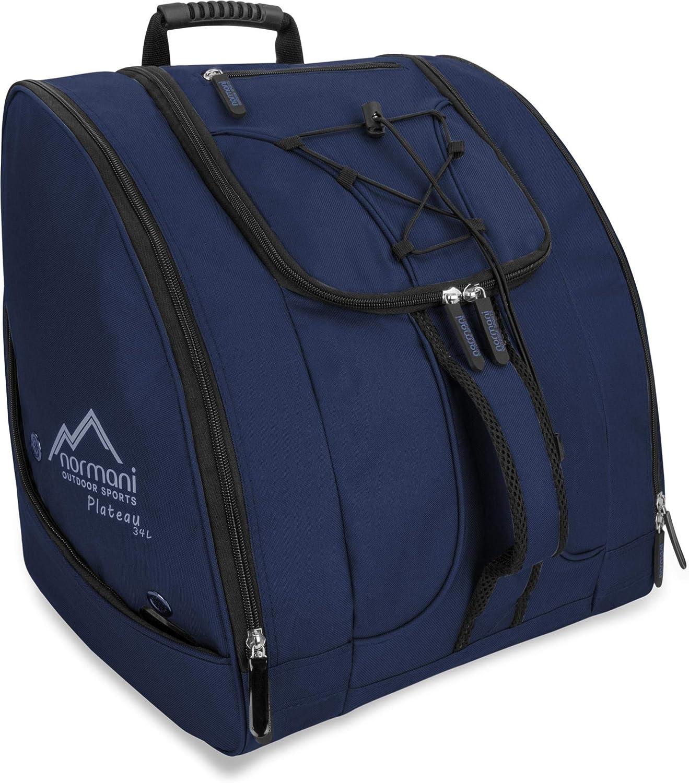 normani Skischuhtasche Helmtasche Skischuhrucksack Stiefeltasche mit vielen Taschen auch für Inliner, Schlittschuhe oder Rollschuhe