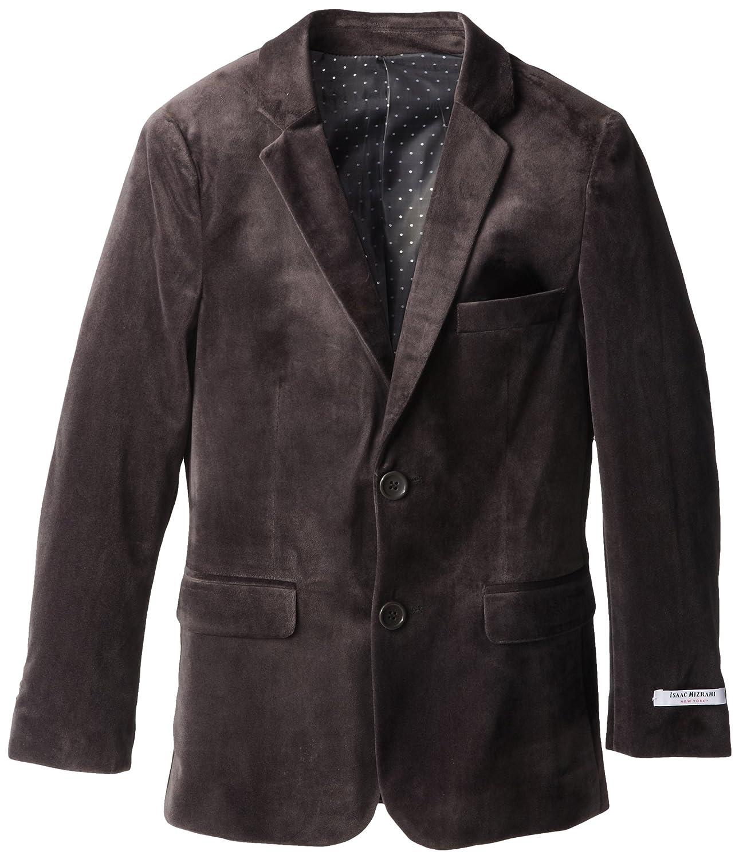 Isaac Mizrahi Big Boys' Single-Breasted Velvet Blazer Jacket Isaac Mizrahi Boys 8-20 BL8012B