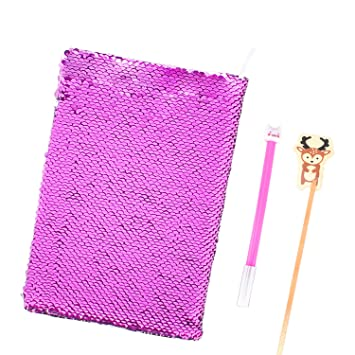 Amazon.com: katosca lentejuelas cuaderno diario de 2 Color ...
