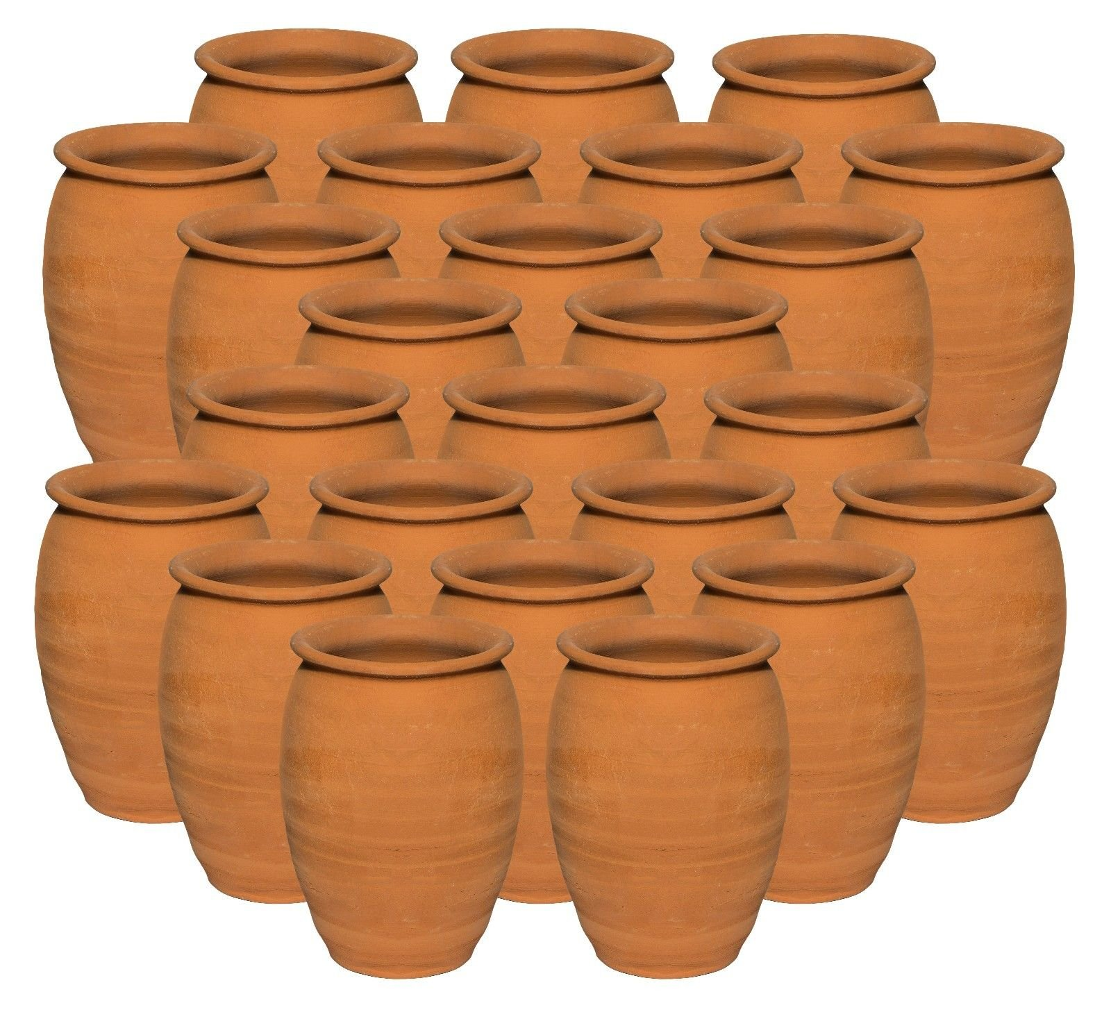 Jarritos de Barro, 24 Pack - Mexican Clay Ethnic Containers (12 oz.) – Cantaritos de Barro Handmade Drinkware for Hot or Cold Beverages Mug Cups