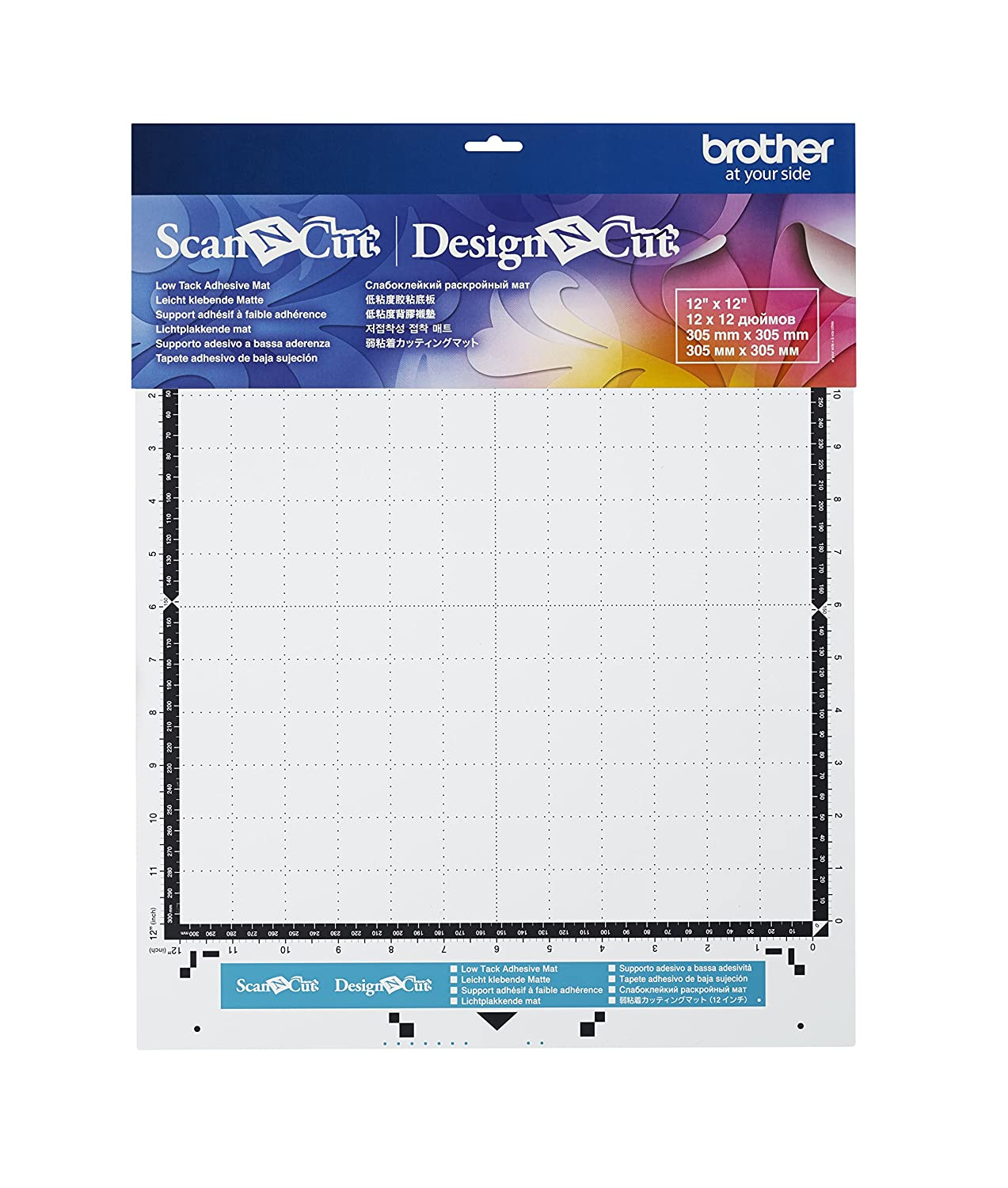 """CAMATLOW12 12X12 Brother Sewing Brother Low Tack Adhesive Mat 12/""""x12/"""""""