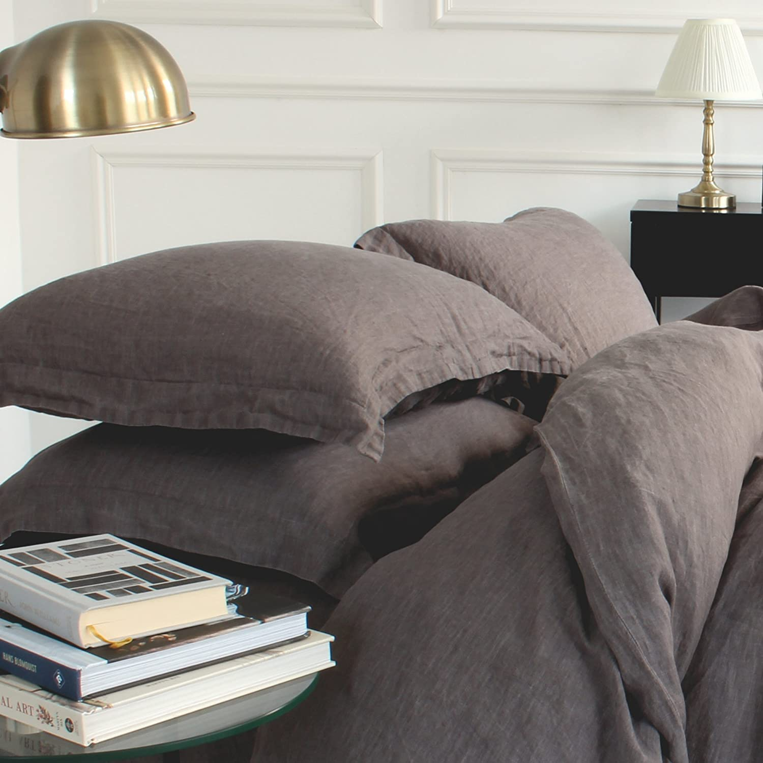 Beautiful Grey Linen Bedding