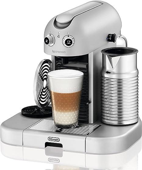 Nespresso Gran Maestria Silver EN470SAE DeLonghi - Cafetera monodosis (19 bares, Apagado automático, Precalentamiento automático de tazas), Color plateado: Amazon.es: Hogar