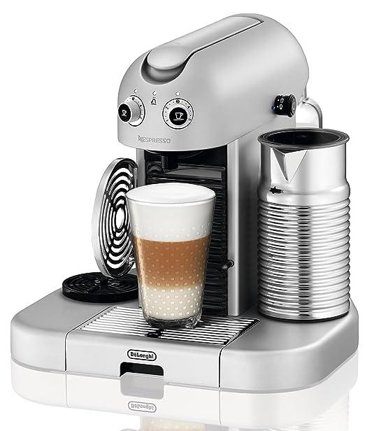 Nespresso Gran Maestria Silver EN470SAE DeLonghi - Cafetera monodosis (19 bares, Apagado automático, Precalentamiento automático de tazas), Color ...