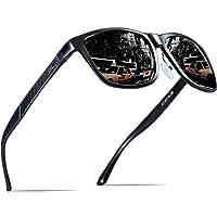 ATTCL Men's Wayfarer Driving Polarized Sunglasses Al-Mg Metal frame Ultra Light
