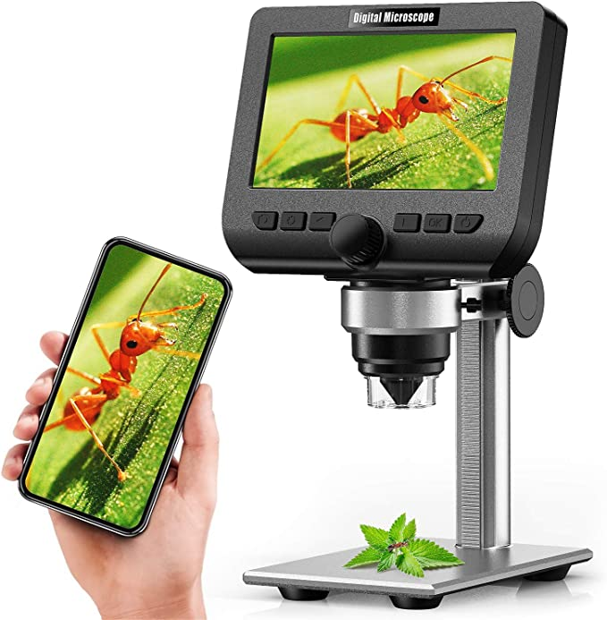 Yinama Lcd Digital Microscope 4 3 Inch 1080p 2 Megapixel 1000x Magnification Zoom Wireless Usb Stereo Microscope Camera Compatible With Iphone Android Ipad Pc Mac And Windows Large Appliances