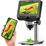 LCD Digital Microscope, YINAMA 4.3 Inch 1080P 2 Megapixels 1000X Magnification Zoom Wireless USB StereoMicroscope Camera, Co