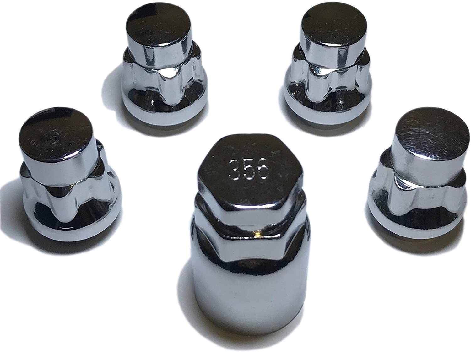 Set of 4 + Key Storage Pouch Included Lug Nuts with Unique Key Utopicar Wheel Locks Cone Seat Tire Theft Protection Best Key Replacement Program Size 12-mm X 1.5