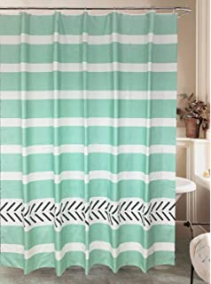 Alcove Cotton Twill Shower Curtain Carter 70x72