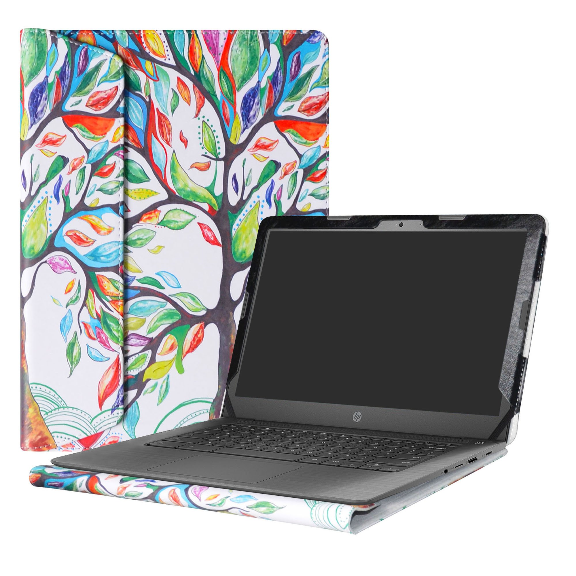 Alapmk Protective Case Cover For 14'' HP Notebook 14-bsXXX (Such as 14-bs153od)/14-bwXXX (Such as 14-bw010nr)/HP 240 G6/HP 245 G6/HP 246 G6 Laptop(Not fit 14-anXXX 14-amXXX 14-cmXXX Series),Love Tree
