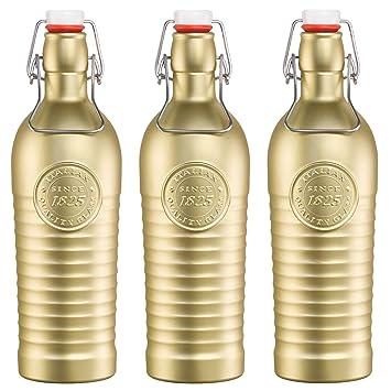 Bormioli Rocco Officina 1825 Vintage Botella de vidrio con tapa abatible 1200ml - dorado - 3