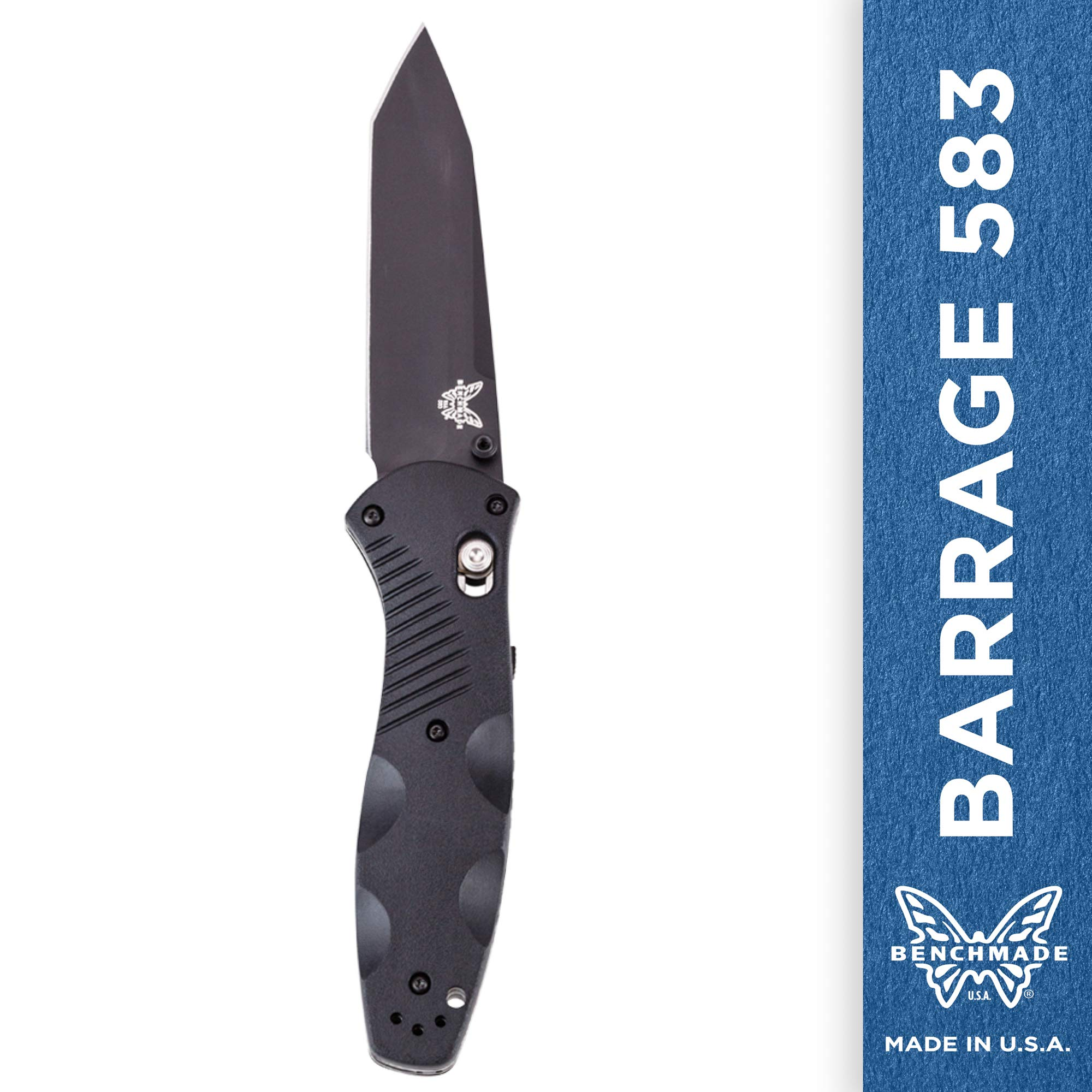 Benchmade - Barrage 583 Knife, Plain Tanto, Coated Finish