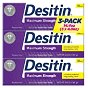 Desitin Maximum Strength Zinc Oxide Diaper Rash Paste 4.8 oz. (Pack of 3)
