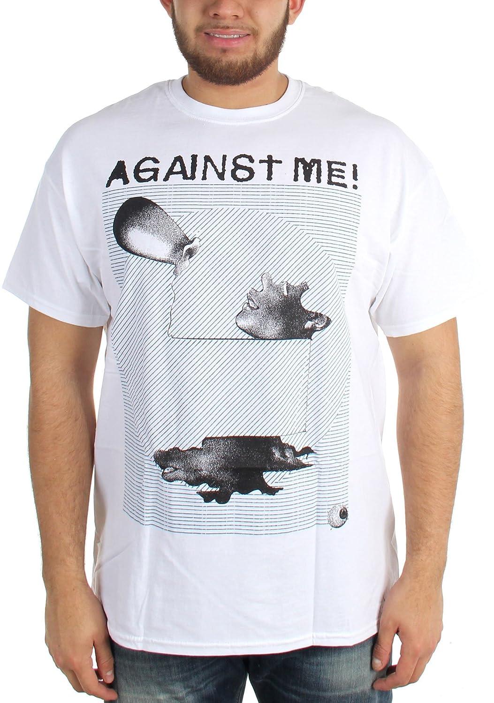 Against Me - Mens Sculpture White T-Shirt