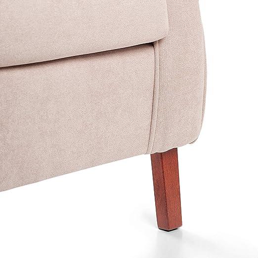 Sillon orejero CARLA (Sillon lactancia)Sillón tapizado antimanchas acualine color Beige. Sillon butaca para dormitorio, salon o habitacion de bebe   ...