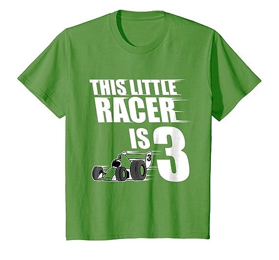 Kids 3rd Birthday Boys Race Car T Shirt Racing 3 Year Old 4 Grass