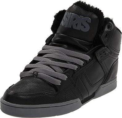 bacb610ec0 Osiris Shoes Men s NYC83 Shr Black Chrome Sherling Trainer 1239-1521 12 UK