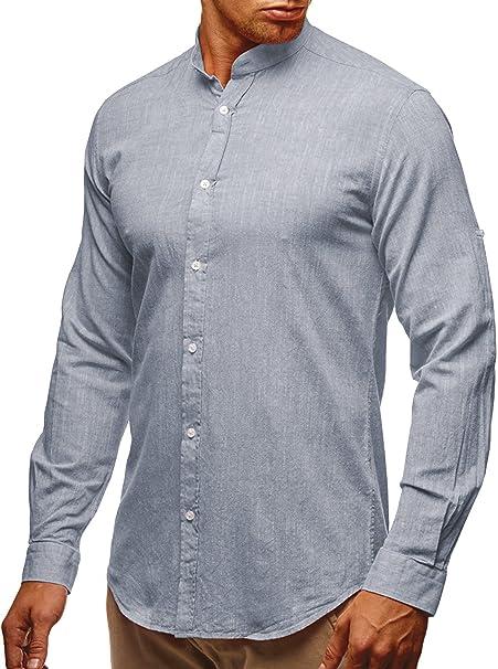 6b9acae1 Gtealife Mens Long Sleeve Cotton Blends Linen Shirts Pullover Light T-Shirt  at Amazon Men's Clothing store: