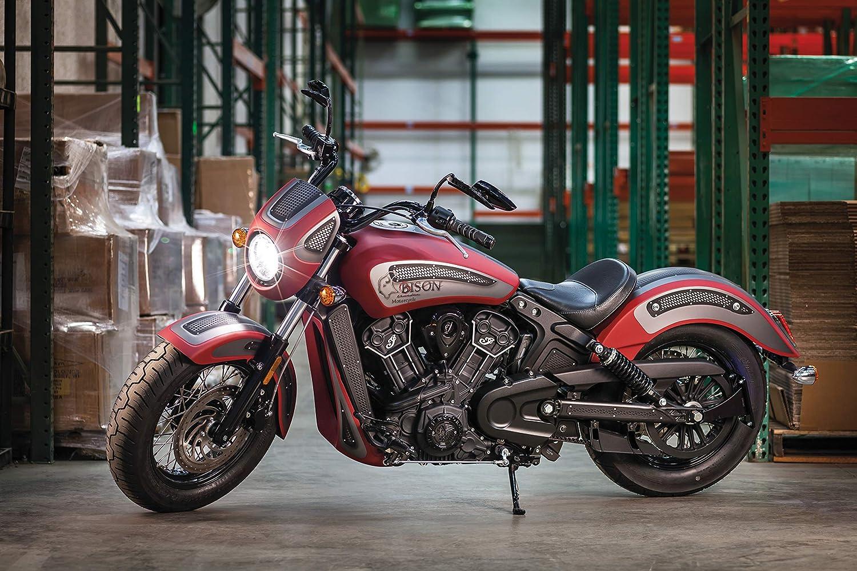Kuryakyn espejos Scythe negro brillante Harley Davidson