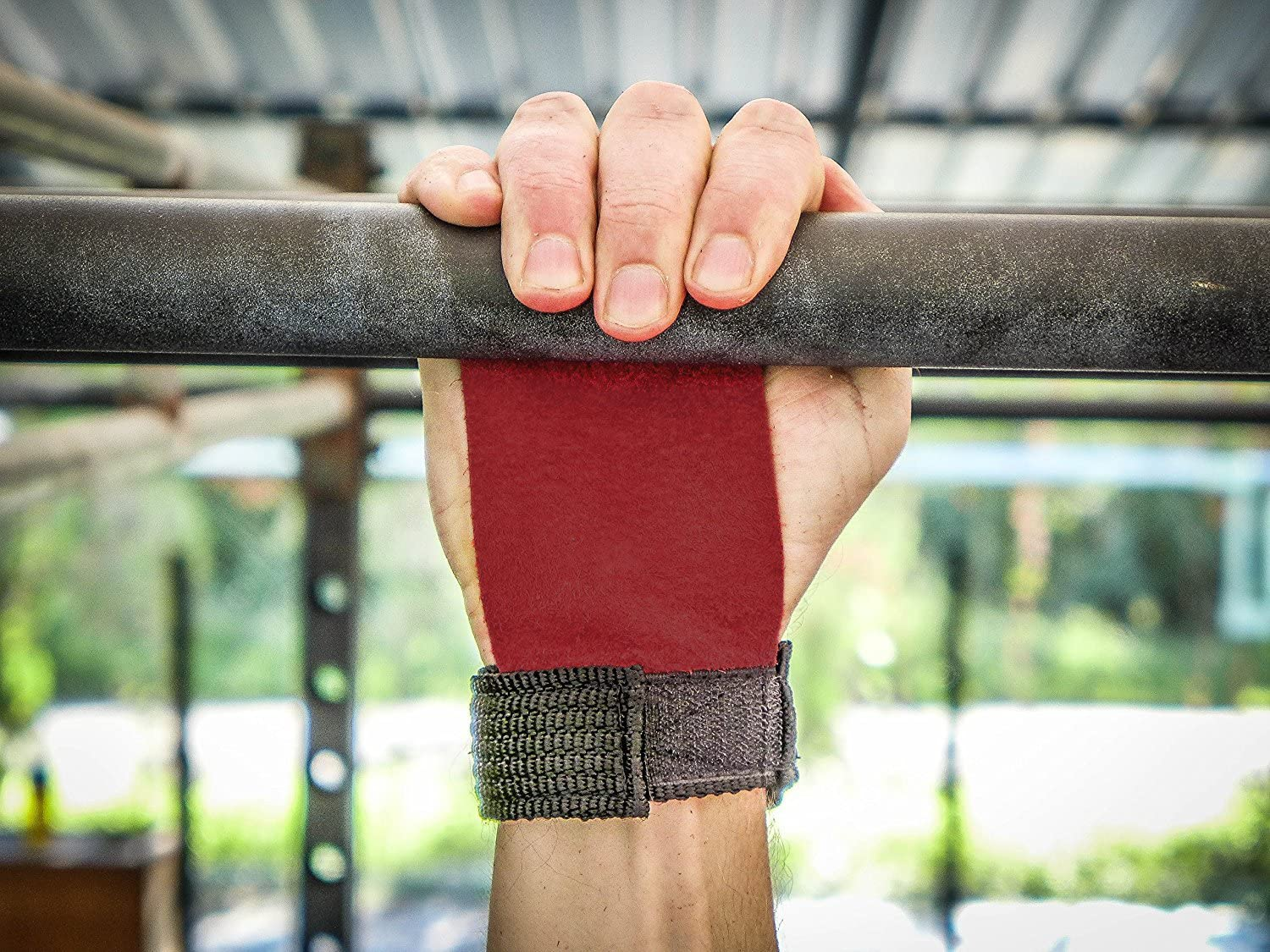 Red, Small Kettlebells and Crossfit. Perfect for Pull-up Training Leather Barbell Gymnastics Grips by WOD Nation
