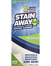 STAIN-AWAY PLUS DENTURE CLEANSER 8.1 OZ