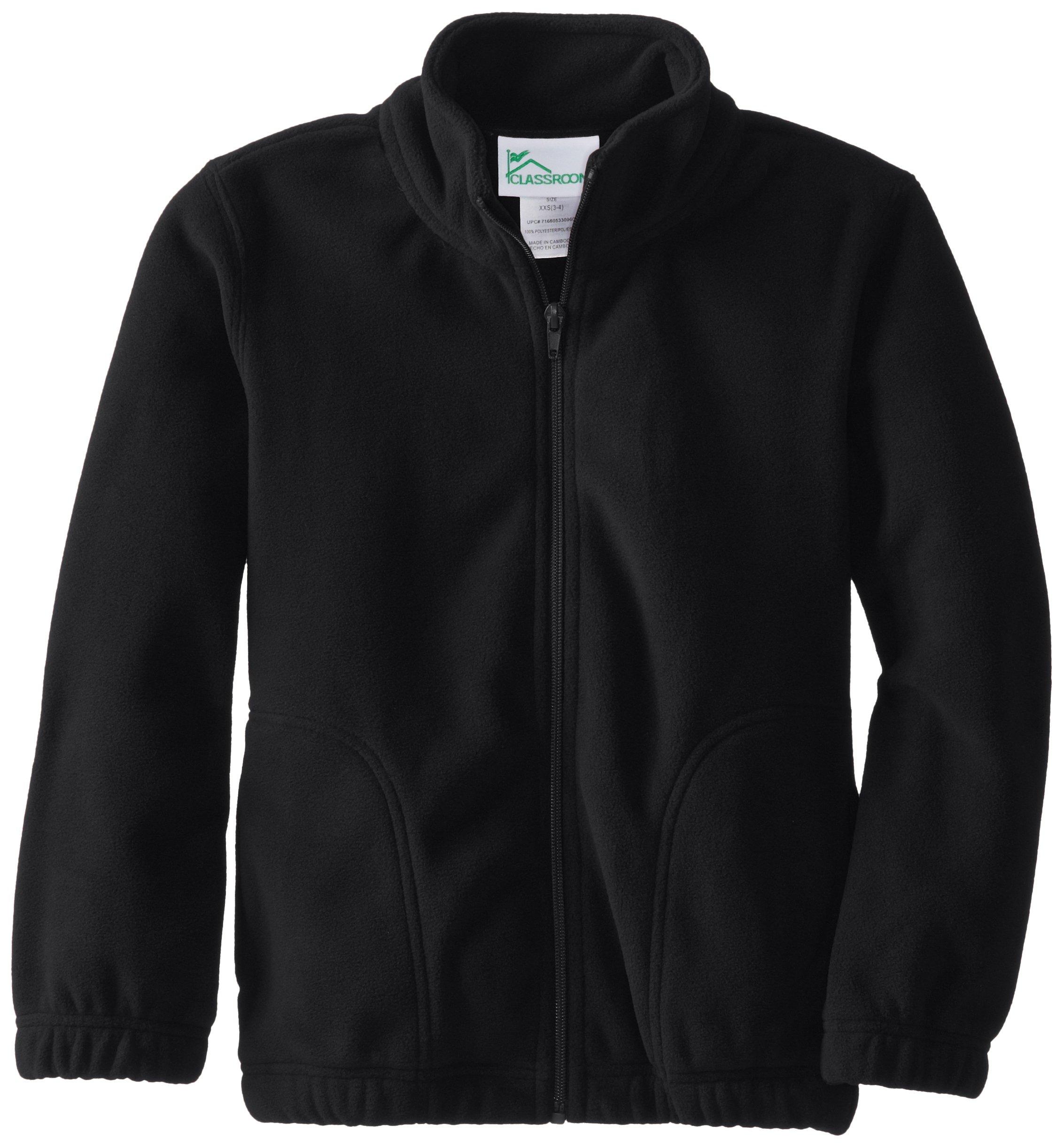 Classroom Uniforms CLASSROOM Youth Unisex Polar Fleece Jacket, Black, Medium by Classroom Uniforms
