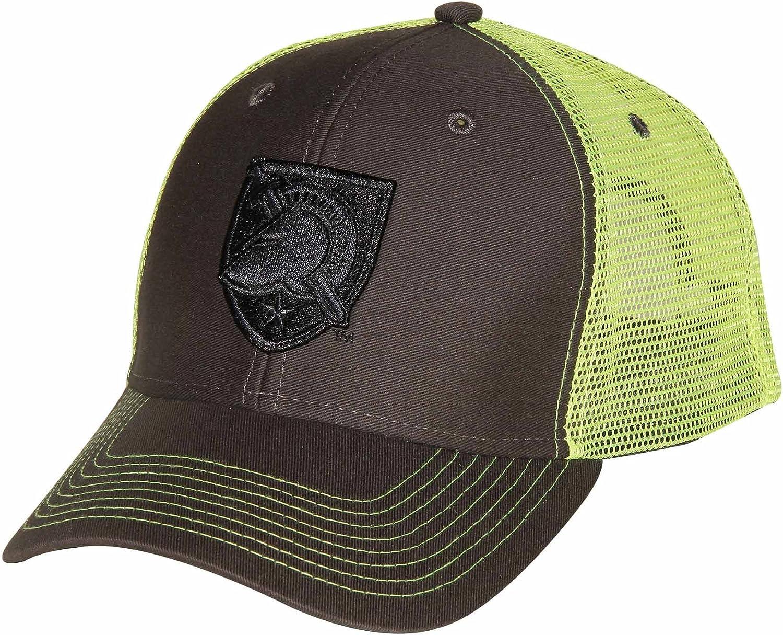 Ouray Sportswear NCAA Army Black Knights Sideline Cap Dark Grey//Neon Yellow