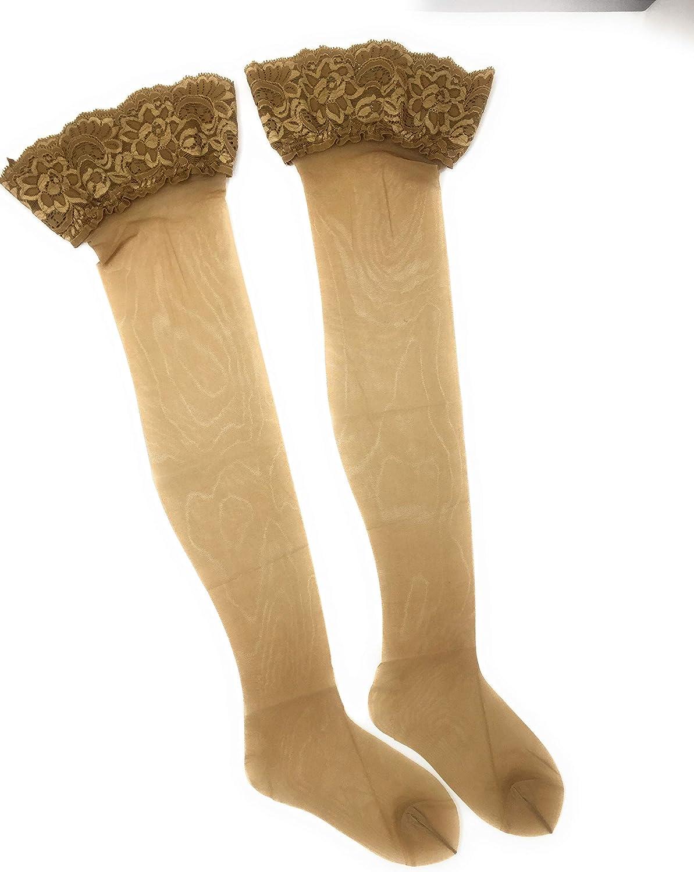 Balza in pizzo Girardi calze Desiree calza autoreggente velata 15 Den