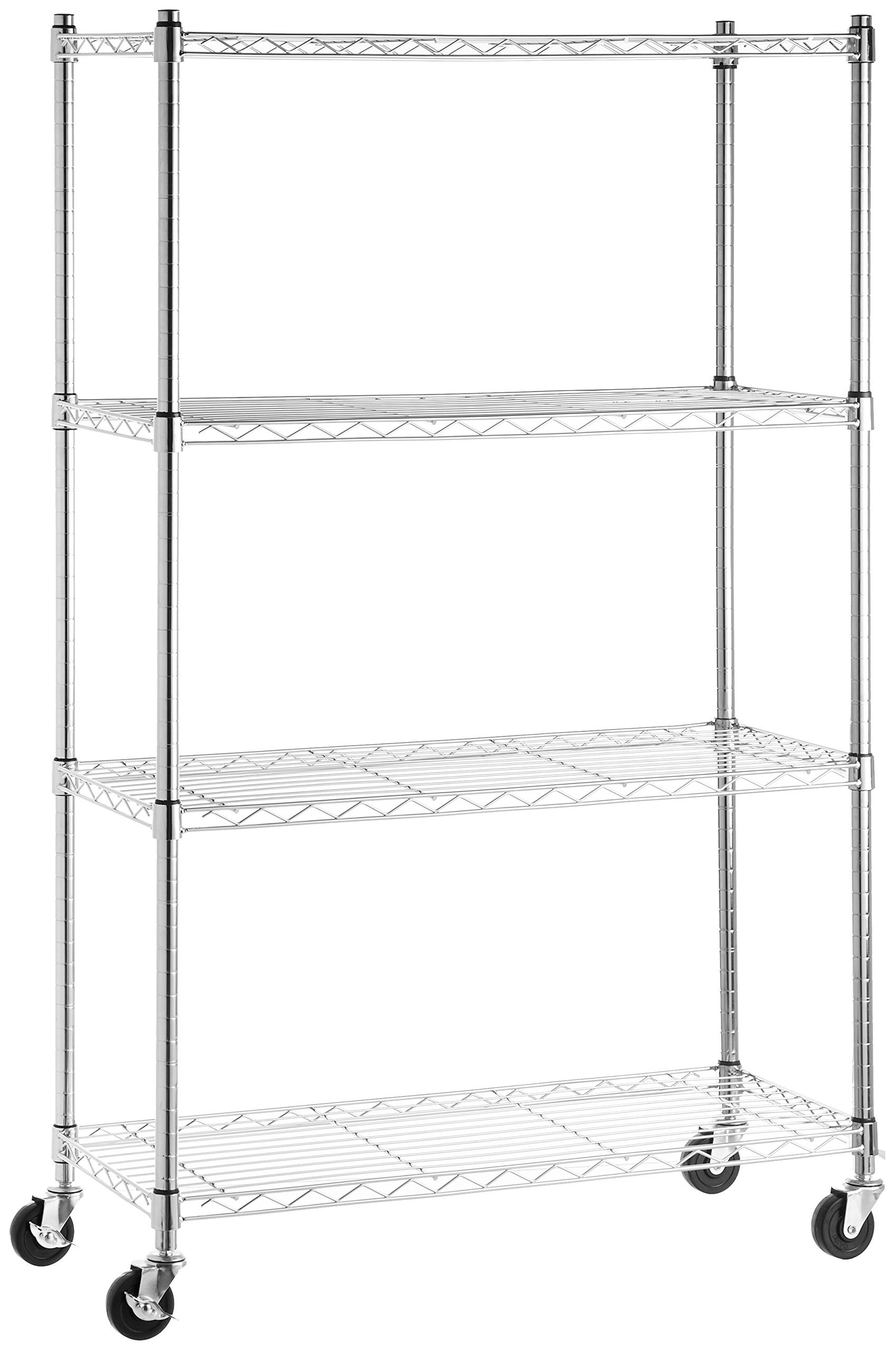 Garage 4 Tier Shelf Shelving Unit on 3\'\' Casters Store Kitchen ...