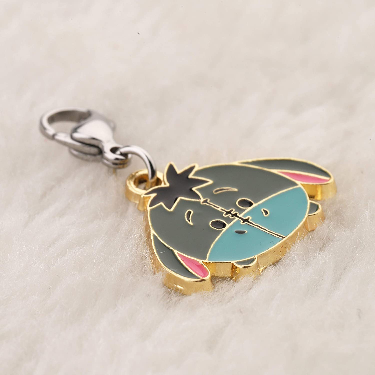 BAUNA Winnie The Pooh Jewelry Eeyore Charm with Lobster Clasp Zipper Pull for Purse Wallets Keys