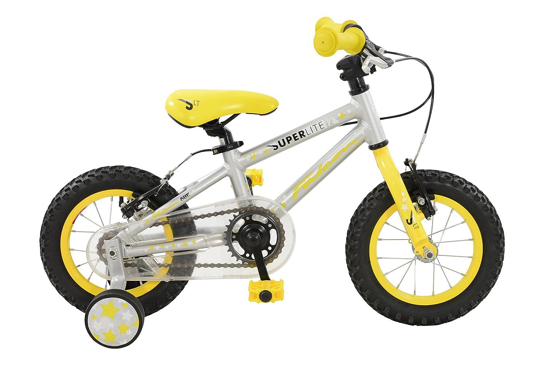ファルコン少年Superlite Bikesイエロー/シルバー12インチ12-inchイエロー/シルバー B01LZJOENF