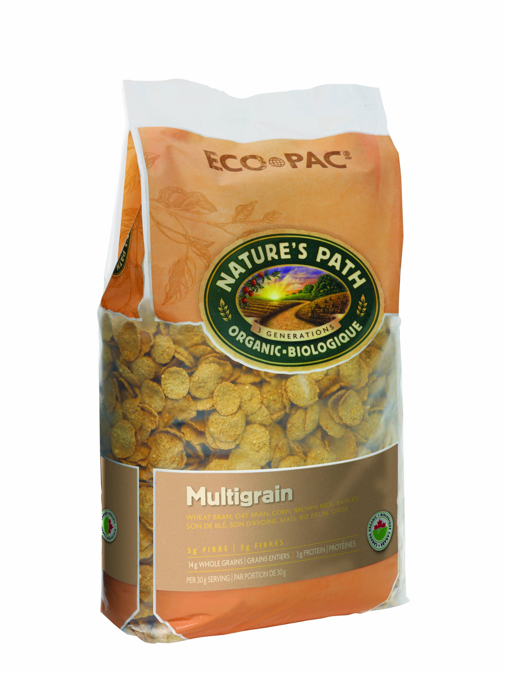 Nature's Path, Multi-Grain Flakes Cereal, Eco Pak, 32 oz by Nature's Path (Image #1)
