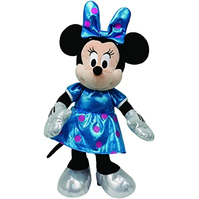 Ty Beanie Buddies Minnie Teal Sparkle Medium Plush: Toys & Games