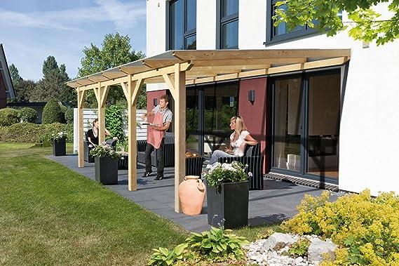 Hespéride de madera toldo 658 322 cm × (19, 65m2) con techo de ...