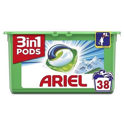 Ariel 3en1 Pods Detergente Cápsulas, Alpine, Limpieza Increíble, Limpia, Quita Manchas,