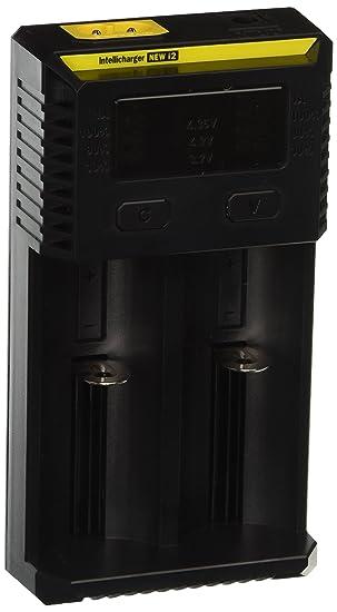 Nitecore Digicharger i2 pantalla LCD Universal cargador inteligente para li-ion IMR LiFePO4 Ni-MH Ni-Cd batería