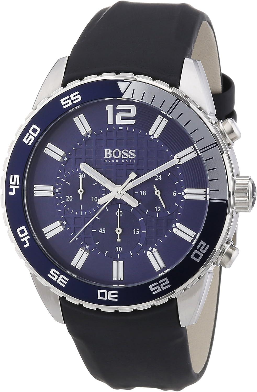 Hugo Boss 1512803 - Reloj analógico de Cuarzo para Hombre con Correa de Silicona, Color Negro
