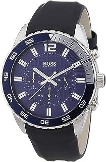 Hugo Boss Blue Dial Stainless Steel Rubber Chrono Quartz Mens Watch 1512803