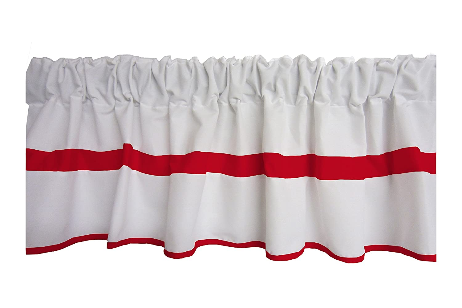 Baby Doll Bedding Modern Hotel Style Window Valance, Red 1250val-red