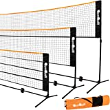 QonQuill Badminton Net - Portable Net for Kids Volleyball, Tennis, Soccer Tennis, Pickleball Net - Sports Net with Easy…