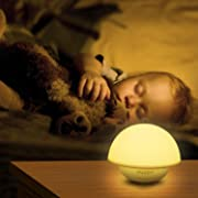 INTEY Night Light for Kids, Mushroom Dimmable LED Children Night Light with Tap Sensor, 7 Color Changing Bedside Lamp for Baby Toddler Nursery Room
