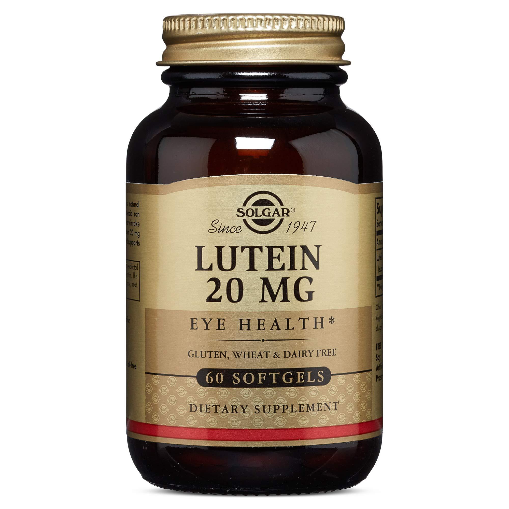 Solgar Lutein 20 mg Softgels, 60 S Gels 20 mg (Pack of 2)
