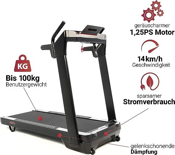 Cinta de correr Fuel Fitness LB100 para el hogar, cinta de correr ...