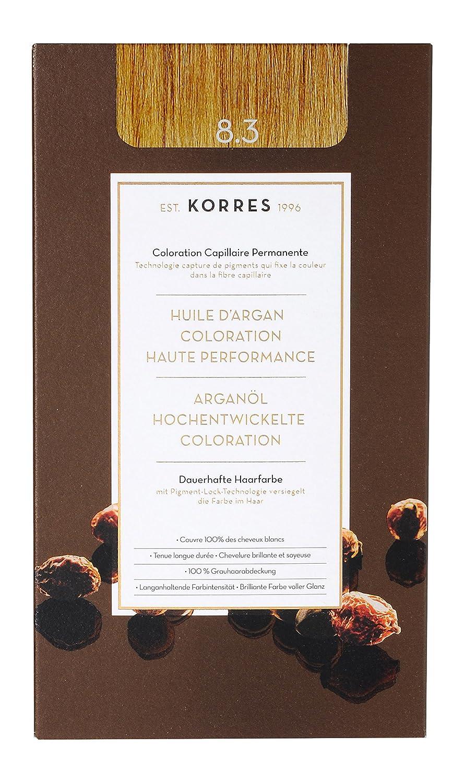 4b050c9fc4a9d2 Korres Argan Öl hochentwickelte Coloration golden/honey dark blonde 6.3,  145ml: Amazon.de: Premium Beauty