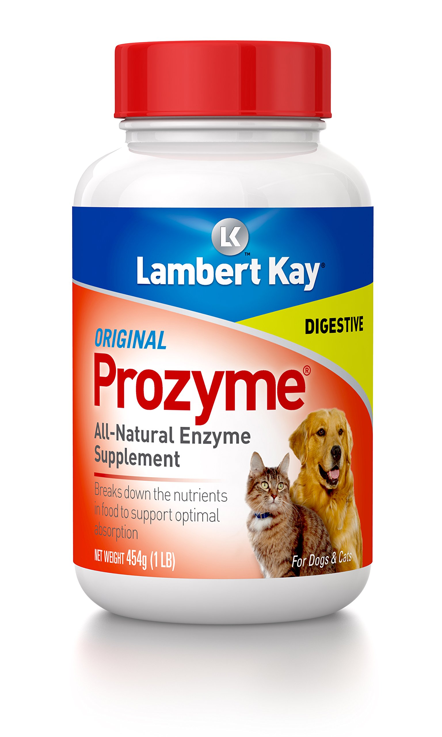Prozyme Original All-Natural Enzyme Supplement for Dogs and Cats, 454gm by Lambert Kay