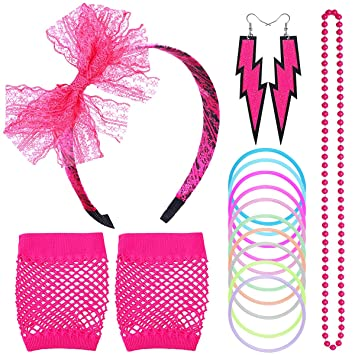 NATUCE 80s Disfraz de Disfraces para Mujeres niñas Adultos con ...