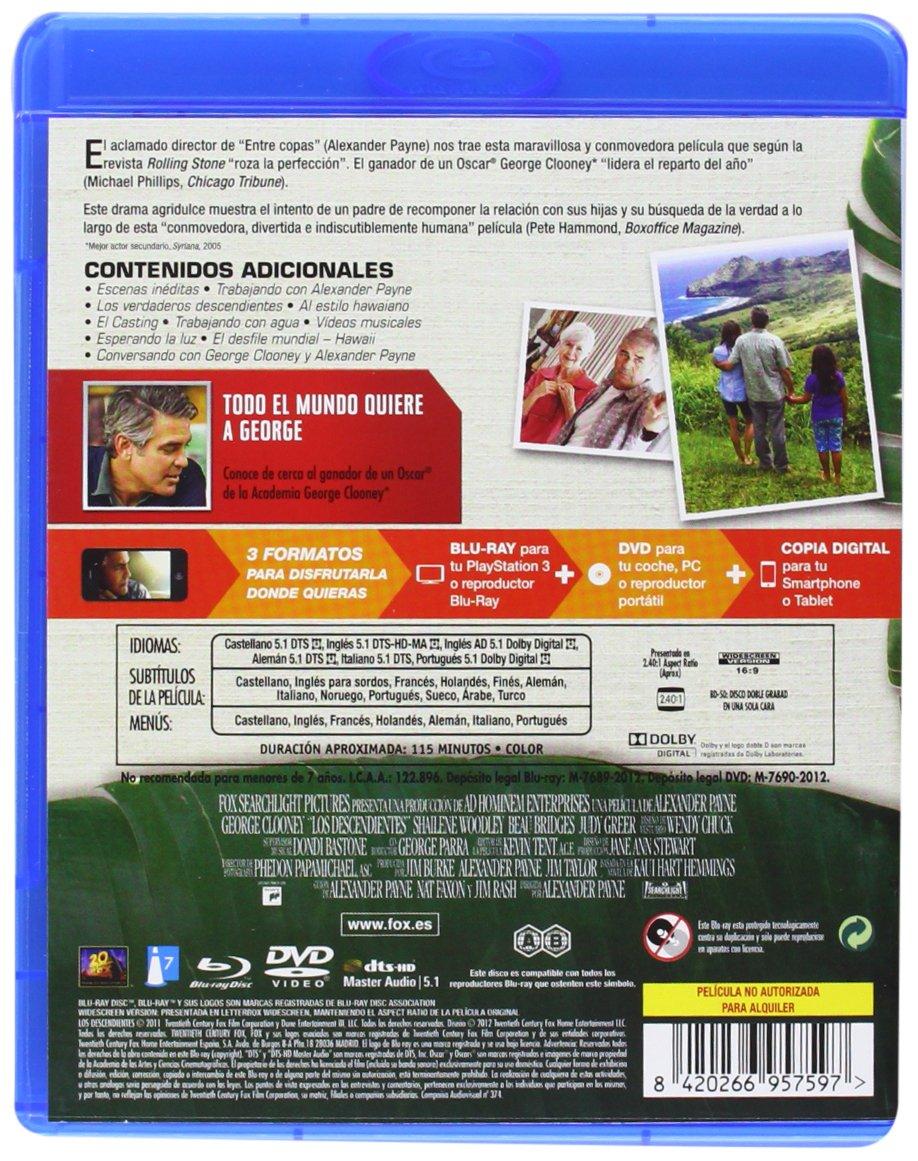 Amazon.com: Los Descendientes (Bd+Dvd+Copia Digital) (Blu-ray) [2012] (Import Movie) (European Format - Zone 2): Movies & TV