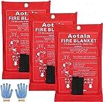 Aotala Fire Blanket Emergency Surival Fire Blankets Fiberglass Flame Retardant Protection
